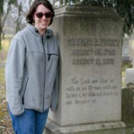Jamie at Finney's grave
