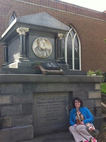 Me visiting Charles Spurgeon's grave, June 2014