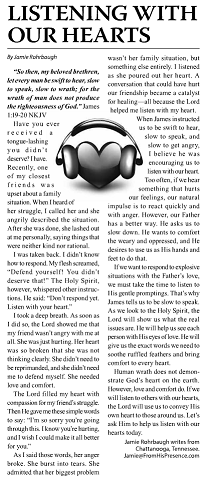 Listening With Our Hearts The Christian Journal April 2014 small