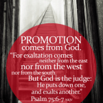 Promotion comes from God
