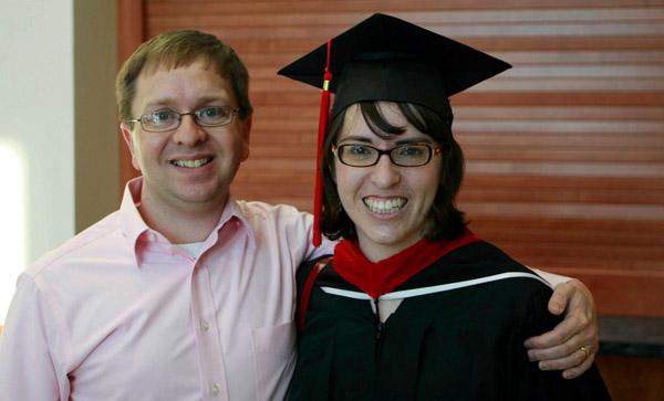 Jamie and Bruce at seminary graduation