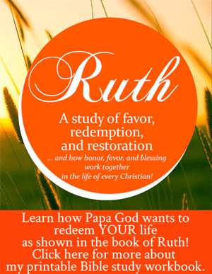Ruth A Study of Favor Redemption and Restoration Bible Study workbook by Jamie Rohrbaugh 300px