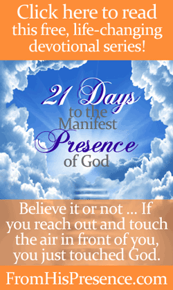 21 Days to the Manifest Presence of God free devotional series by Jamie Rohrbaugh | FromHisPresence.com