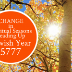 Change in Spiritual Seasons Leading up to Jewish New Year 5777 | by Jamie Rohrbaugh | FromHisPresence.com