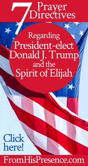 7 Prayer Directives Regarding President-elect Donald J. Trump and the Spirit of Elijah | by Jamie Rohrbaugh | FromHisPresence.com