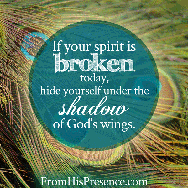 If your spirit is broken | an encouraging word | by Jamie Rohrbaugh | FromHisPresence.com