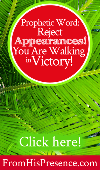 Prophetic Word | Reject Appearances! You Are Walking in Victory! | by Jamie Rohrbaugh | FromHisPresence.com